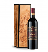 Wine Gift Boxes: Leonetti Reserve Red 2013 in Handcrafted Burlwood Box