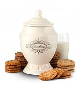 Cookie Gift Baskets: Old Fashioned Cookie Jar with Two Dozen Cookies