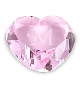 Personalized Keepsake Gifts: Crystal Keepsake Heart
