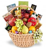 Food & Fruit Baskets: Needed Comforts Sympathy Basket