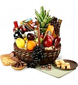 Wine & Fruit Baskets: New Baby Wine, Fruit & Gourmet