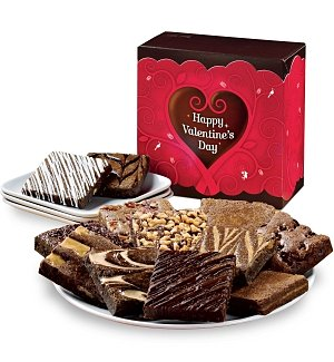 One Dozen Valentine's Day Brownies