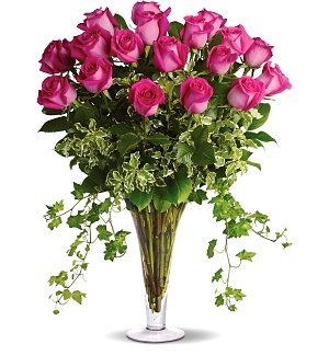 Eighteen Premium Pink Roses