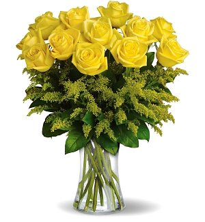 One Dozen Premium Yellow Roses