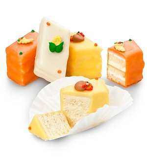 Two Dozen Harvest Celebration Petit Four Cakes