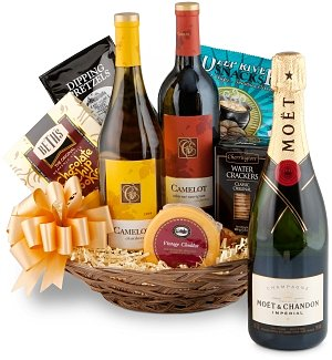 Gold Wine Basket