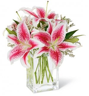 Awareness Pink Lily Bouquet