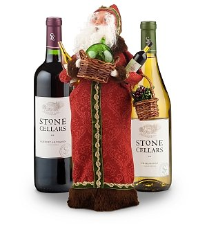 Collectible Santa with Stone Cellars Wine