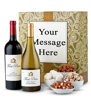 Napa Valley Wine Duet with Personalized Gift Box