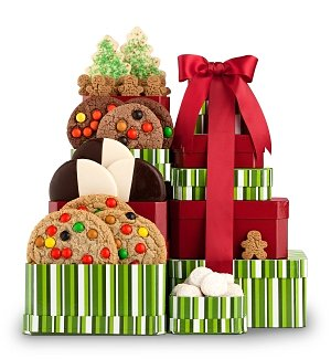 Season's Greetings Cookie Tower