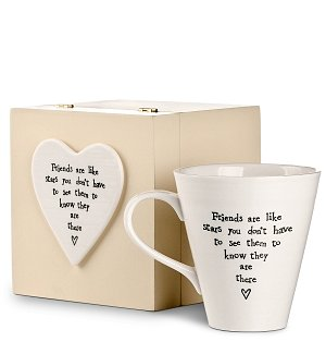 Friends are Like Stars Wooden Box and Matching Mug