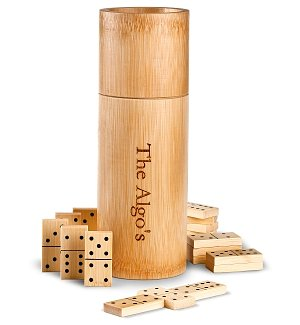 Bamboo Dominoes Corporate Gift Set