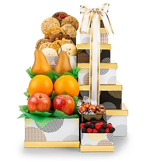 Golden Bounty Fruit Tower