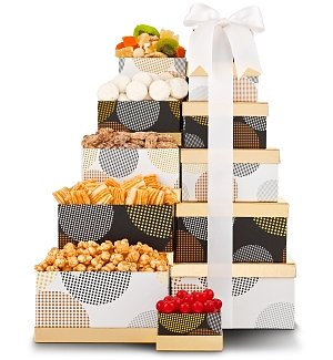 Gourmet Delight Snack Tower
