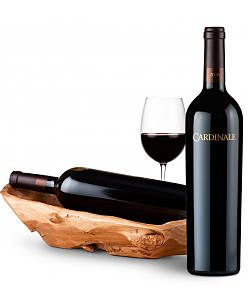 Root Presentation Bowl with Cardinale Cabernet Sauvignon 2006