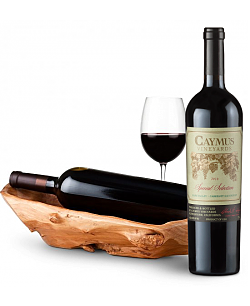 Root Presentation Bowl with Caymus Special Selection Cabernet Sauvignon 2010