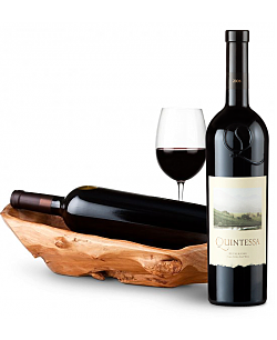 Root Presentation Bowl with Quintessa Meritage Red 2008