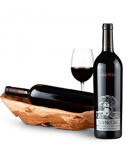 Root Presentation Bowl with Silver Oak Napa Valley Cabernet 2007
