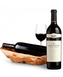 Root Presentation Bowl with Beringer Private Reserve Cabernet Sauvignon