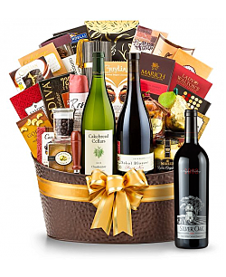 The Hamptons Luxury Wine Basket-Silver Oak Napa Valley Cabernet Sauvignon 2008