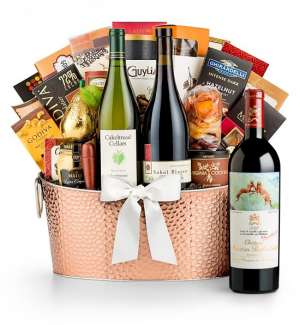 Premium Wine Baskets: Chateau Mouton Rothschild 2012 - The Hamptons Luxury Wine Basket