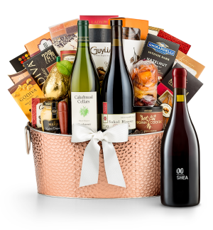 Premium Wine Baskets: 00 Shea Vineyard Pinot Noir 2014 - The Hamptons Luxury Wine Basket