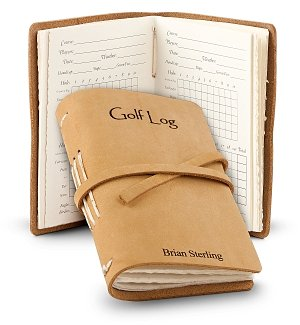 Leather Bound Golf Log