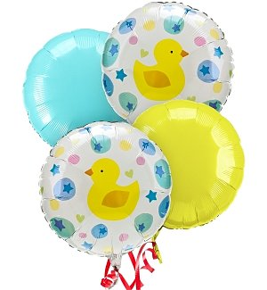 New Baby Balloon Bouquet-4 Mylar
