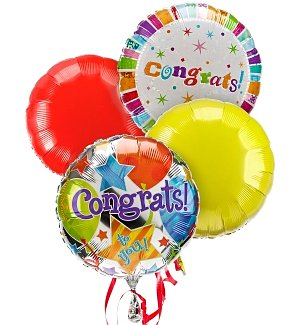 Congratulations Balloon Bouquet-4 Mylar
