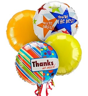 Thank You Balloon Bouquet-4 Mylar