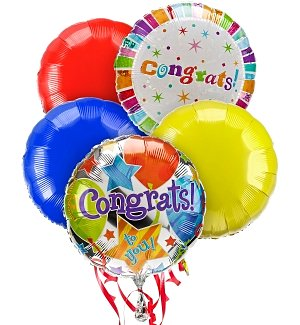 Congratulations Balloon Bouquet-5 Mylar