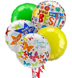 Thinking of You Balloon Bouquet-5 Mylar