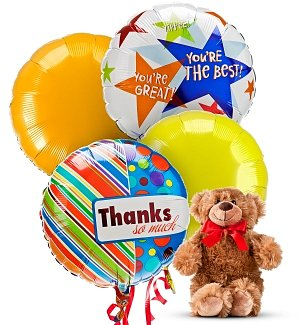Thank You Balloons & Bear-4 Mylar