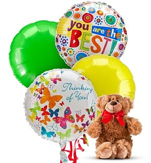 Grandparent's Day Balloons & Bear-4 Mylar