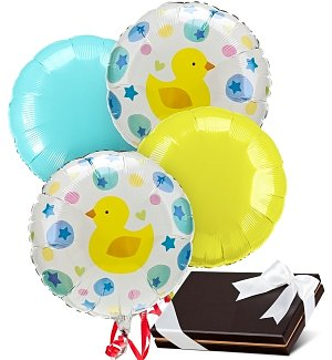 New Baby Balloons & Chocolates-4 Mylar