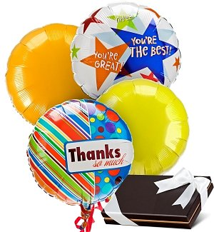 Admin's Day Balloons & Chocolates-4 Mylar