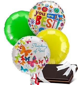 Mother's Day Balloons & Chocolates-4 Mylar