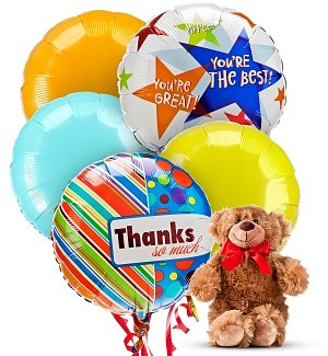 Thank You Balloons & Bear-5 Mylar
