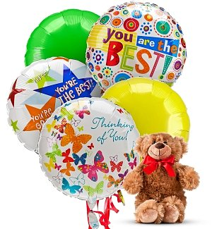 Friendship Day Balloons & Bear-5 Mylar