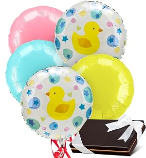 New Baby Balloons & Chocolates-5 Mylar