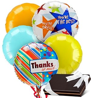 Admin's Day Balloons & Chocolates-5 Mylar