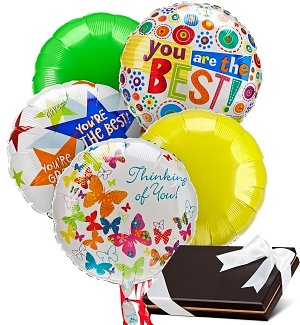 Balloons & Chocolates-5 Mylar