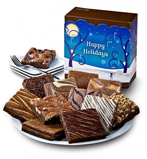One Dozen Happy Holiday Brownies