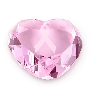 Breast Cancer Awareness Pink Crystal Heart