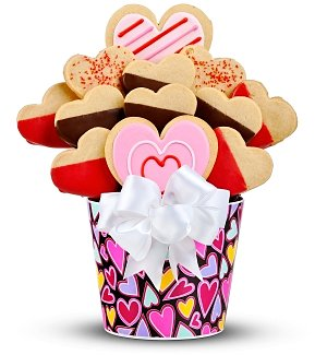 Valentine's Day Gourmet Cookie Bouquet