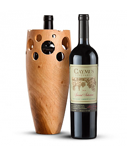 Handmade Wooden Wine Vase with Caymus Special Selection Cabernet Sauvignon 2010