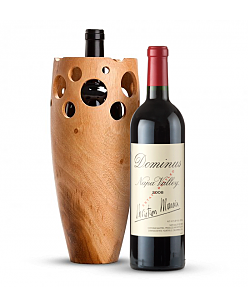Handmade Wooden Wine Vase with Dominus Estate 2008
