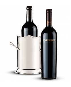 Double-Handled Luxury Wine Holder with Cardinale Cabernet Sauvignon 2006