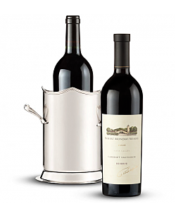 Double-Handled Luxury Wine Holder with Robert Mondavi Reserve 2006 Cabernet Sauvignon