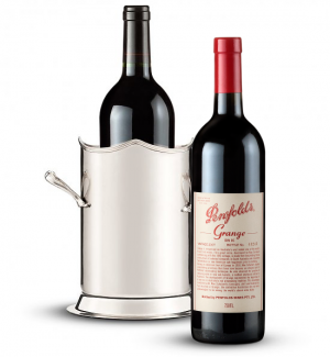 Double-Handled Luxury Wine Holder with Penfolds Grange 2007